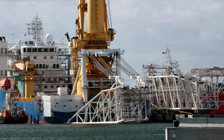 """JAV įves sankcijas """"Nord Stream 2"""" projekte dalyvaujančioms 4 Rusijos įmonėms ir 4 laivams"""