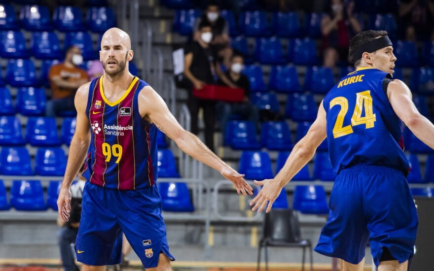 """Nickas Calathesas, Kyle'as Kuričius / Foto: """"Barca Basket"""""""