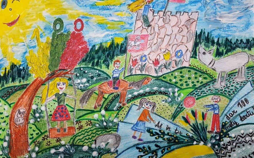 """Balsuok! Mokinių piešinių konkursas: """"Mano namai – laisva Lietuva!"""""""