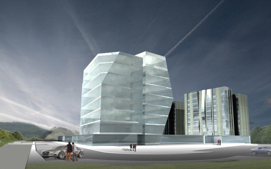 Šalia sostinės parodų rūmų planuojamas naujas didžiulis pastatas