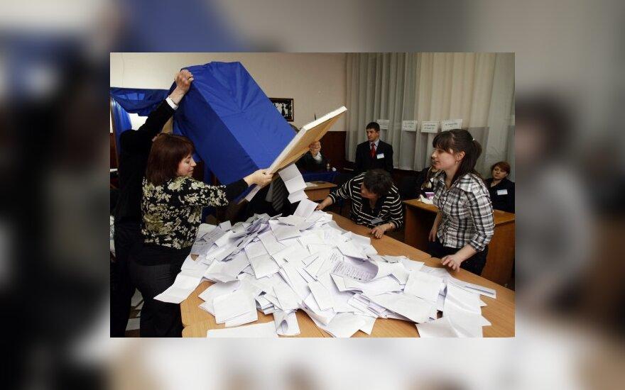 Moldovoje perskaičiavus parlamento rinkimų balsalapius, mandatų pasiskirstymas nepasikeitė