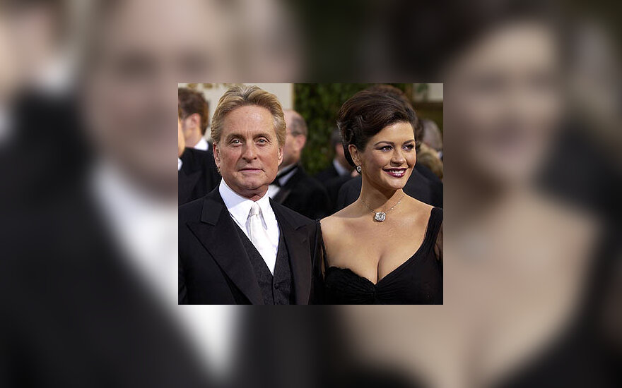 Michael Douglas ir Catherine Zeta-Jones