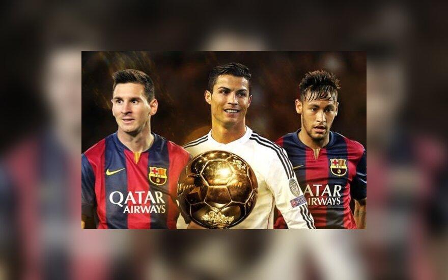 Lionelis Messi, Cristiano Ronaldo ir Neymaras