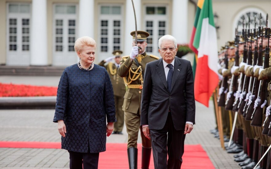 Dalia Grybauskaitė, Sergio Mattarella