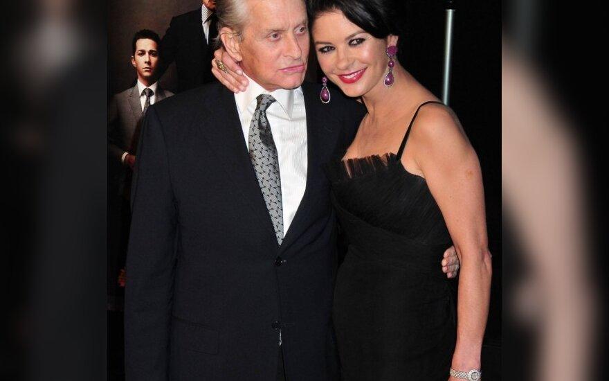 Michaelas Douglasas ir Catherine Zeta Jones