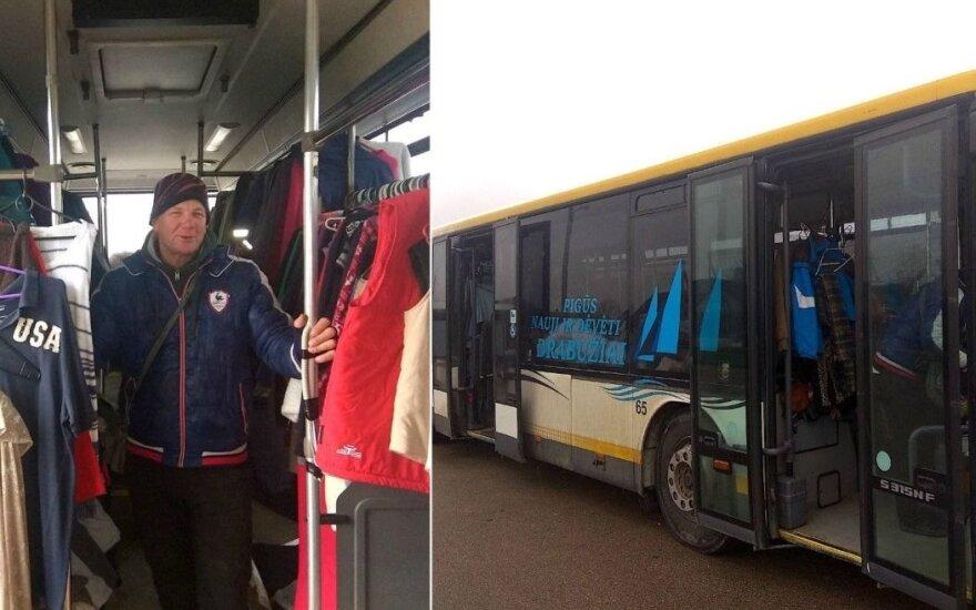 Kėdainiečio išradingumas: parduotuvę įkūrė keleiviniame autobuse