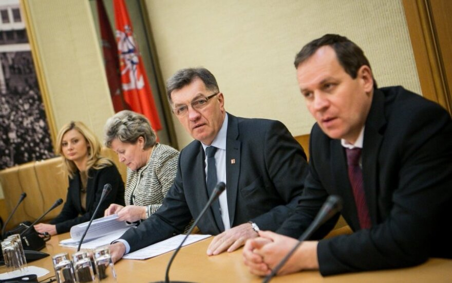 Prime Minister Algirdas Butkevičius and LLRA leader Valdemar Tomaševski