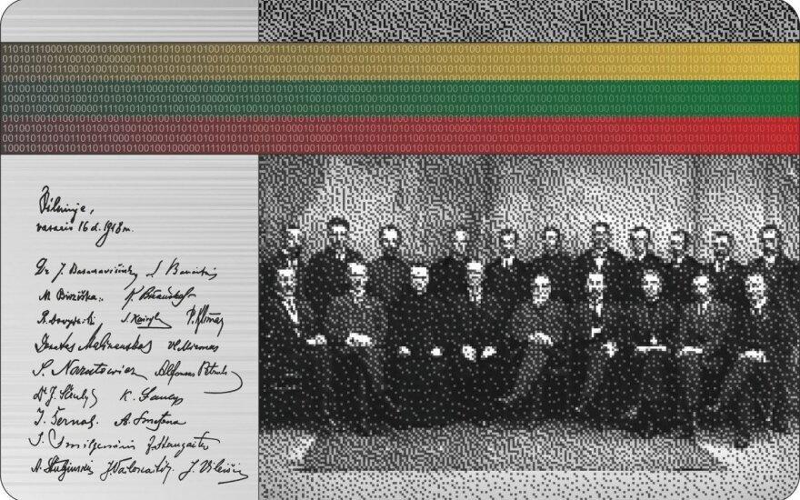 Ant pirmosios skaitmeninės kolekcinės monetos – Lietuvos Nepriklausomybės signatarai