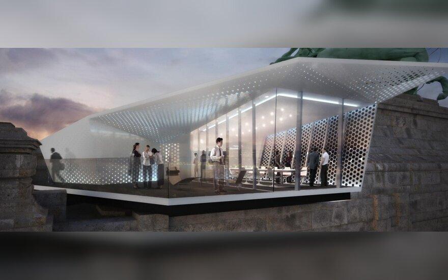 Ant Europos architektūros paminklų stogų dygs laikini restoranai