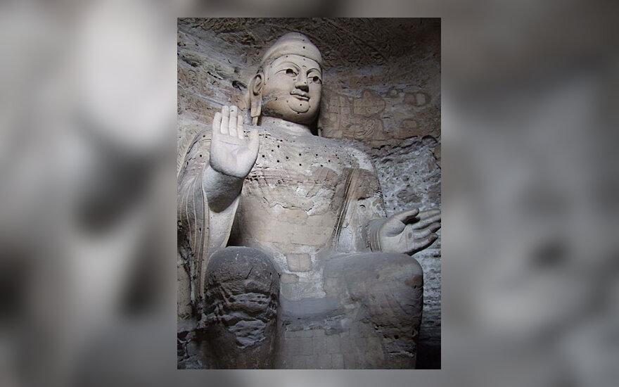 Budos skulptūra Yungang oloje
