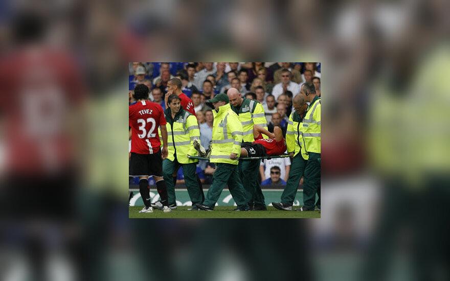 """Mikaelis Silvestre (""""Manchester United"""") patyrė traumą"""