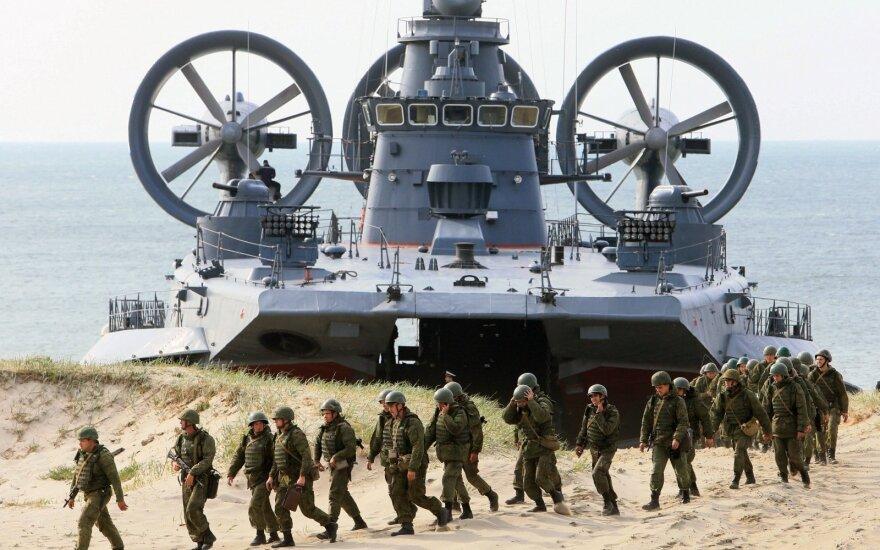Zapad 2013 Russian military 'lands' on the shores of Kaliningrad