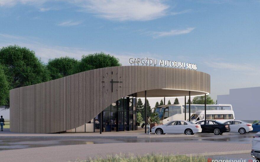 Skelbiamas konkursas Gargždų autobusų stoties statyboms