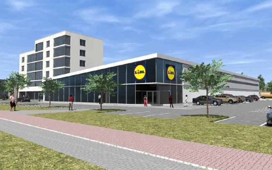 """""""Lidl"""" prekybos centrų Klaipėdoje vizualizacijos"""