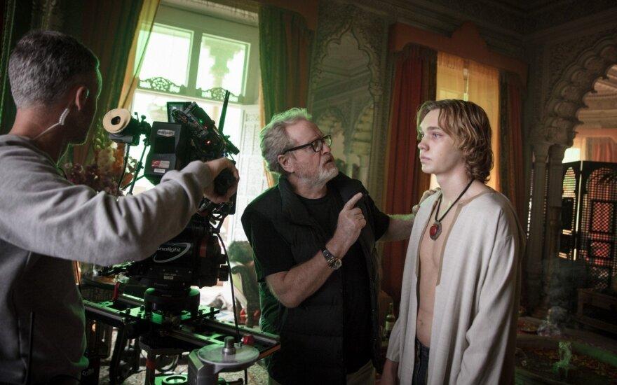 """Ridley Scottas filmo """"Visi pasaulio pinigai"""" filmavimo aikštelėje"""