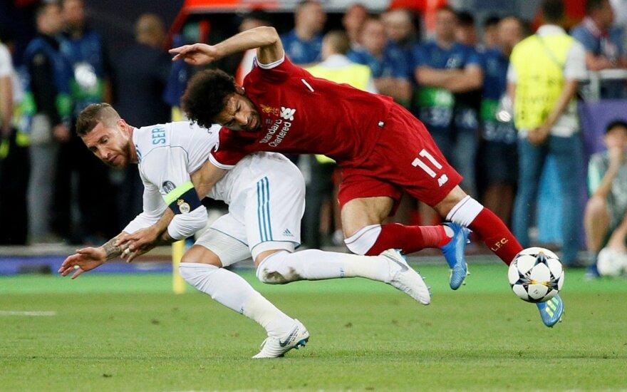 Mohamedas Salah ir Sergio Ramosas