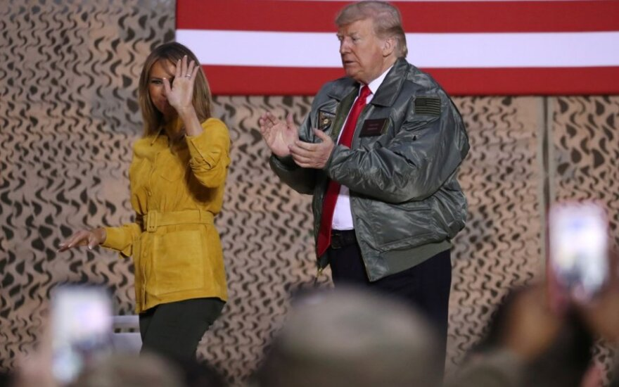Donaldas Trumpas ir Melania Trump lankėsi Bagdade