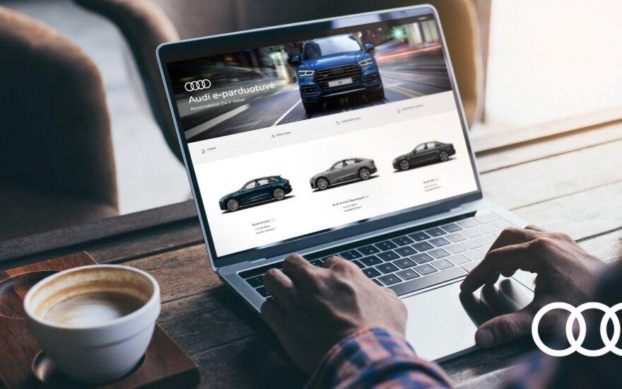 """""""Volkswagen"""" ir """"Audi"""" automobilius jau galima įsigyti internetu"""