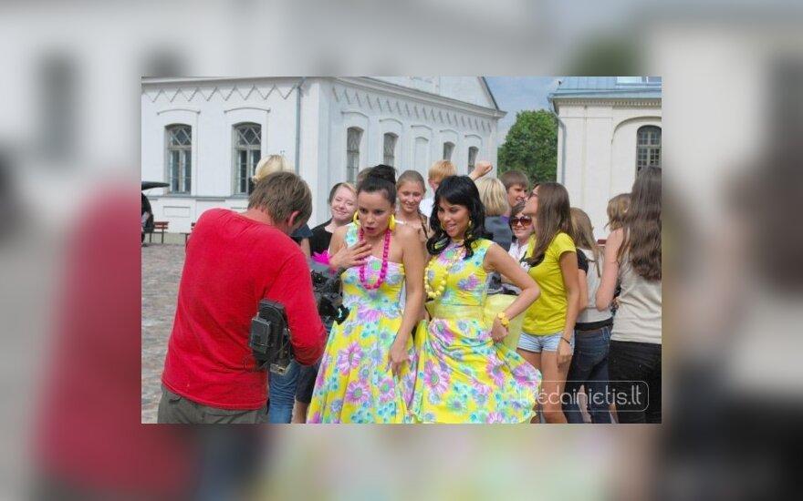 Rusijos žvaigždės vaizdo klipą filmavo Kėdainiuose