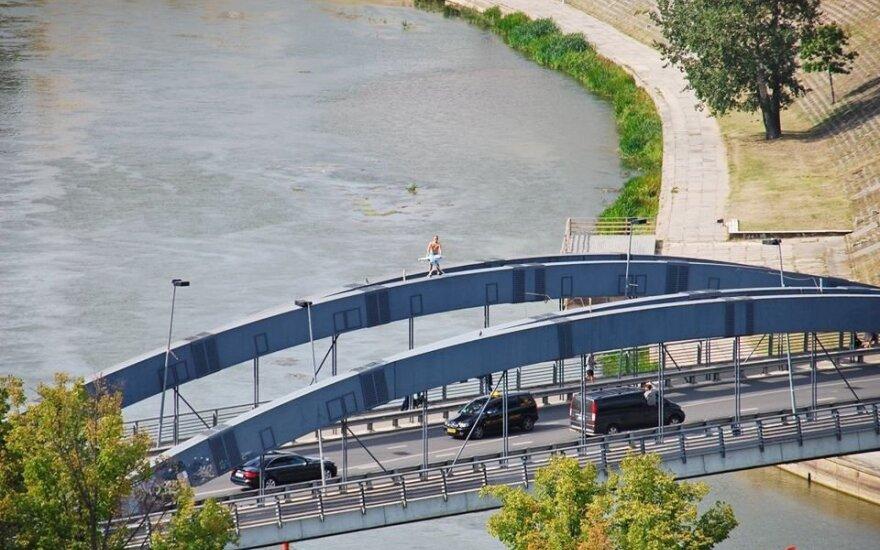Ekstremalus lyginimas Lietuvoje - Vilniuje ant Mindaugo tilto