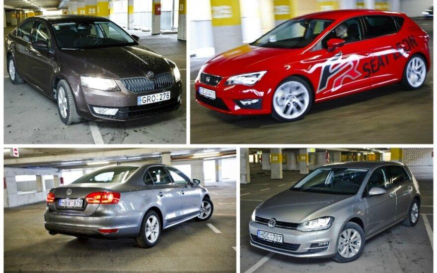 Volkswagen grupės automobilių testas