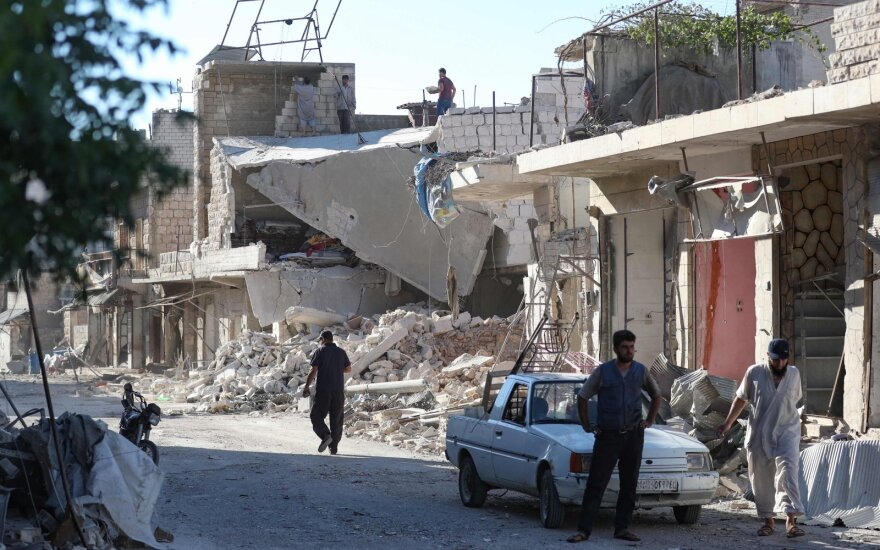 Sirijos Idlibe per vyriausybės pajėgų ataką žuvo turkų karys