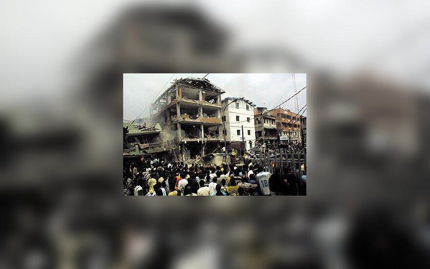 Sprogimas Nigerijos viešbutyje