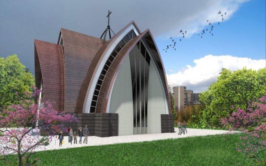 Sostinės miegamuosiuose rajonuose iškils Jono Pauliaus II bažnyčia