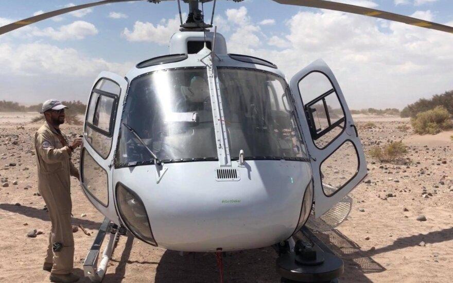 Apie Dakaro ralio sraigtasparnius pasakojo vieno jų pilotas čilietis Claudio
