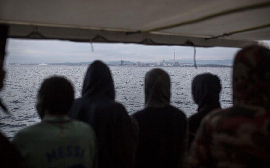 Migrantai laive