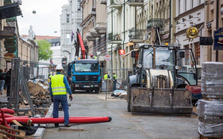 Dirbantiems išjuoktoje Vilniaus gatvėje – dar vienas akibrokštas