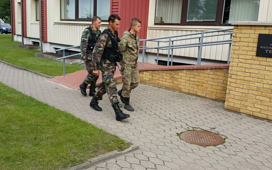 Russian citizen who claimed to be a Russian border guard is taken to the court
