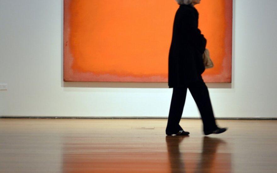"""Marko Rothko paveikslas """"Oranžinė, raudona, geltona"""""""