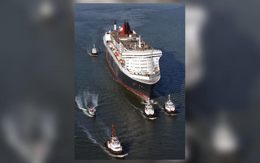 """Didžiausias pasaulyje garlaivis """"Queen Mary 2"""""""