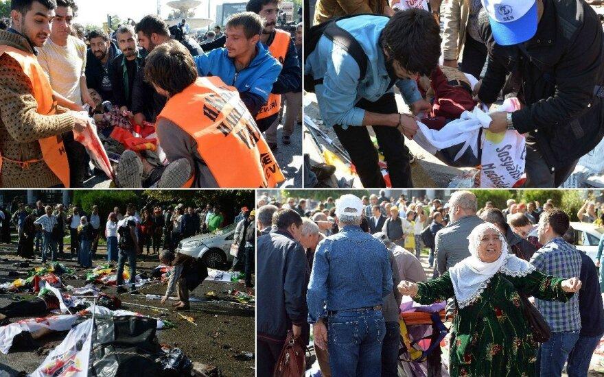 Turkijoje – dvigubas sprogimas: beveik 100 žuvusių, šimtai sužeistų