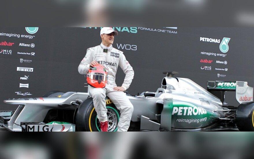 "Michaelis Schumacheris prie ""Mercedes W03"""