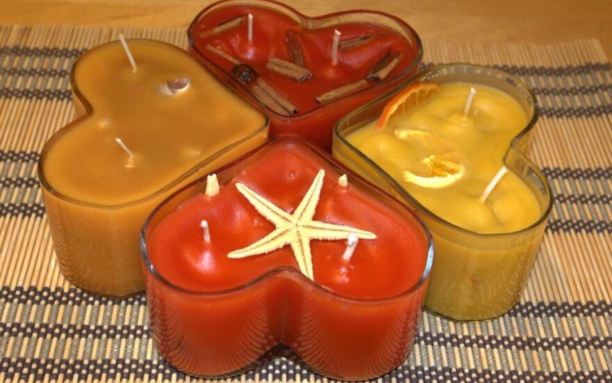 Pasidaryk pats: naminės žvakės
