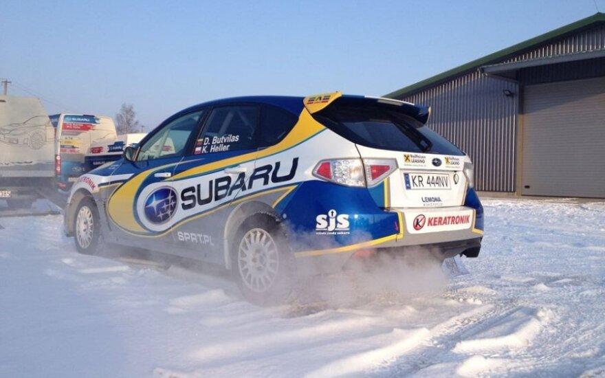 D. Butvilas ruošiasi ERC raliui Liepojoje