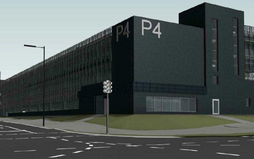 Daugiafunkcė daugiaaukštė automobilių stovėjimo aikštelė šalia Vilniaus oro uosto