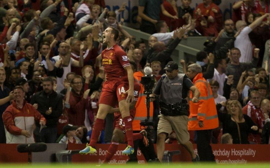 """Jordanas Hendersonas (""""Liverpool"""") džiaugiasi pergale"""