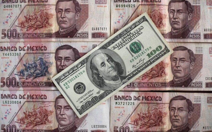JAV doleris ir  Meksikos pesas