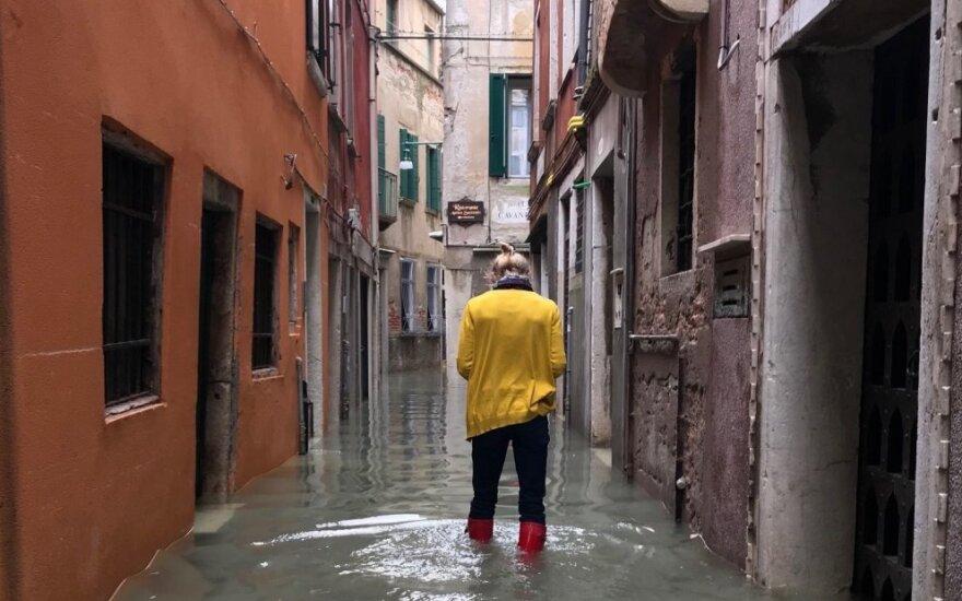 Per potvynį Venecijoje užtvindyta 70 proc. miesto teritorijos