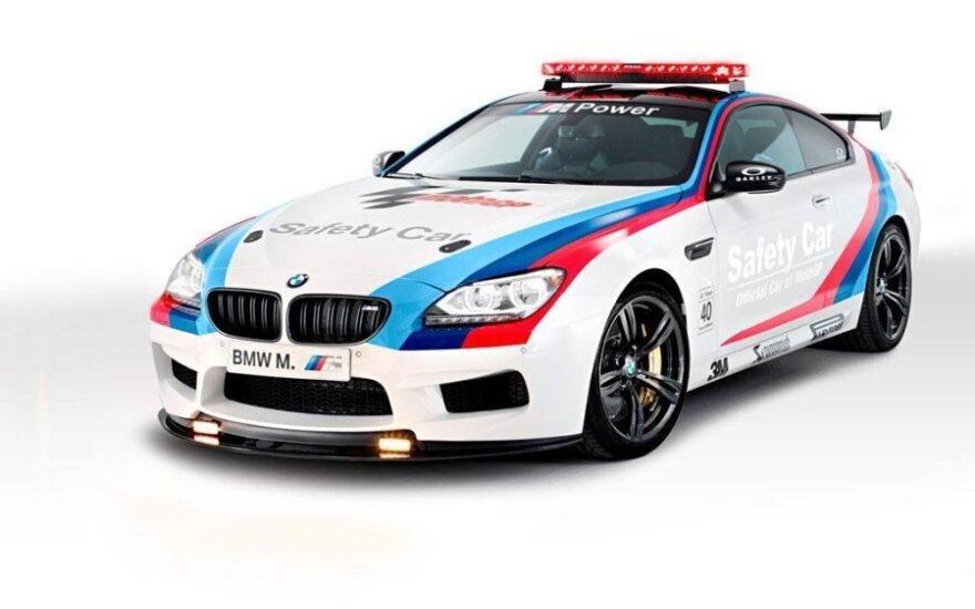 BMW M6 saugos automobilis