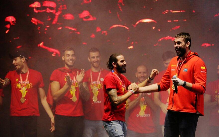 Ispanijos krepšininkų sutikimas Madride