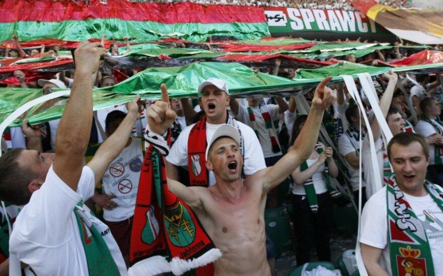 "Varšuvos ""Legia"" klubo fanai"