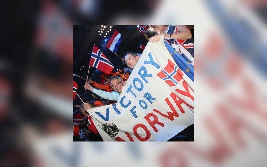 """Norvegija pergalę """"Eurovizijoje"""" švenčia savo Nacionalinę dieną"""