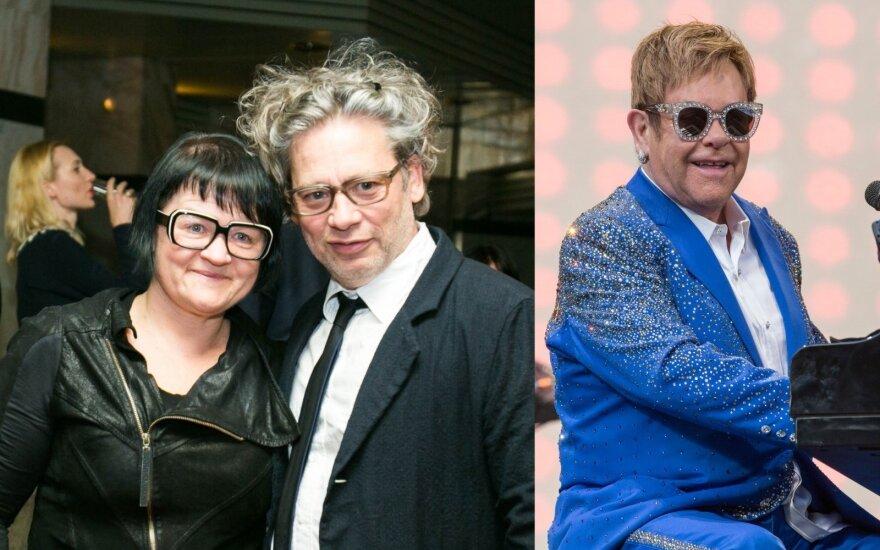 Dalia Ibelhauptaitė, Dexteris Fletcheris, Eltonas Johnas