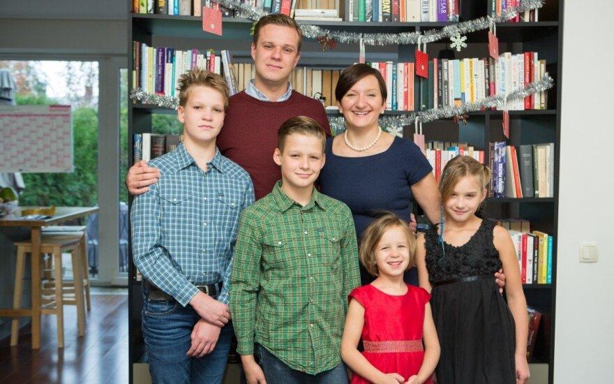 Gabrieliaus ir Austėjos Landsbergių šeima