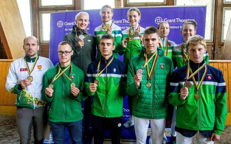 Lietuvos penkiakovės čempionato prizininkai