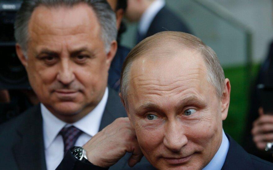 Putino sprendimas: su dopingo skandalu siejamas Mutko nebebus atsakingas už Rusijos sportą
